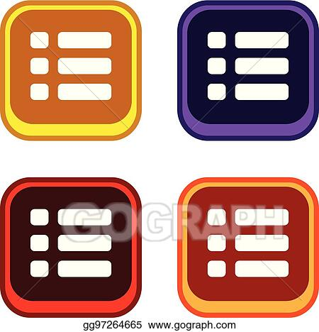 Vector Stock - Color app icon button game asset theme vector. Stock ...