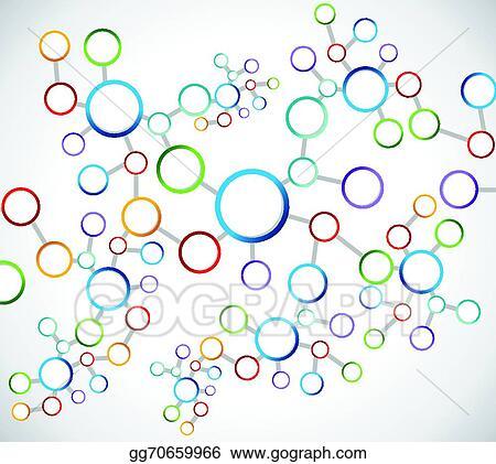 Enjoyable Vector Clipart Color Atoms Network Connection Diagram Vector Wiring 101 Capemaxxcnl