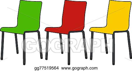 Pleasant Vector Stock Color Chairs Clipart Illustration Gg77519564 Home Interior And Landscaping Ologienasavecom