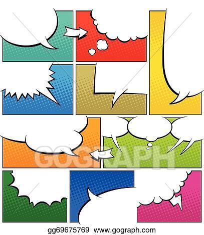 Clip art vector color comic book page template stock eps color comic book page template maxwellsz