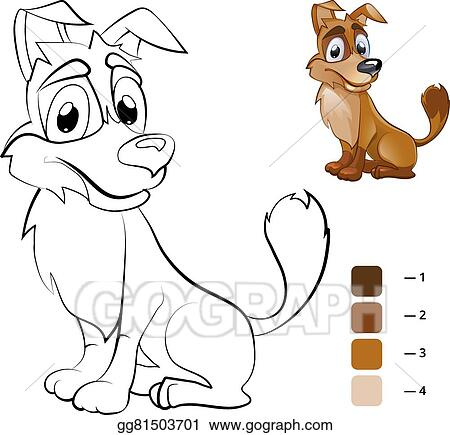 EPS Vector - Color dog. coloring book for preschool children ...
