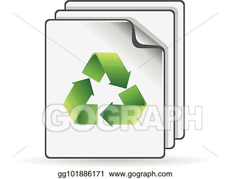 Vector Illustration Color Icon Recycle Symbol Paper Stock Clip