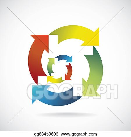 stock illustration color recycle symbols concept background