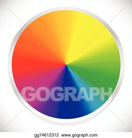 Vector Stock Color Wheel Circular Circle Color Palette With