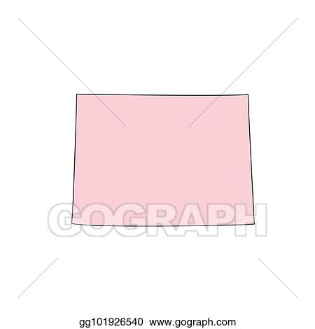 Clip Art Vector Colorado Map Isolated On White Background