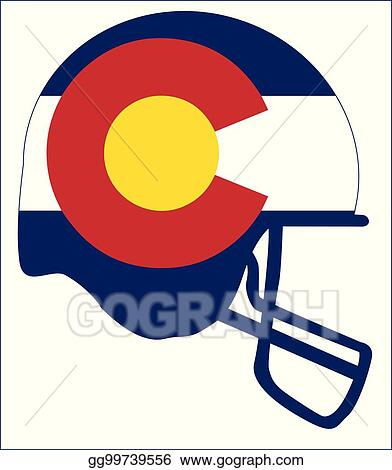 eps vector colorado state flag football helmet stock clipart rh gograph com flag football player clipart flag football clipart black and white