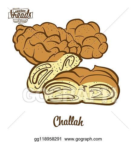 Clip Art: Challah Bread | Challah bread, Challah, Bread