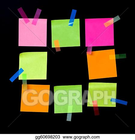 Drawing - colored sheets . Clipart Drawing gg60698203 - GoGraph