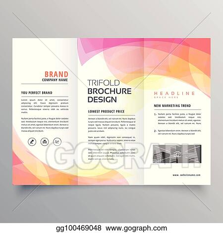 vector clipart colorful abstract trifold brochure design template