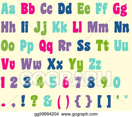 stock illustration colorful alphabet letters numbers clipart rh gograph com clipart alphabet letters arabic clipart alphabet letters free
