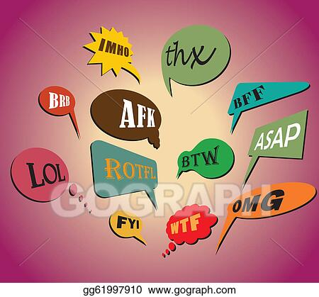 Vector Art Colorful And Most Commonly Used Chat And Online