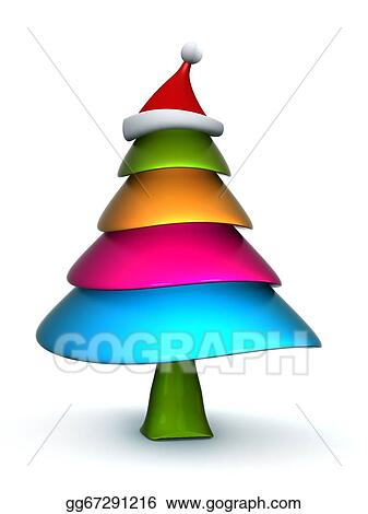 Christmas Illustrations Clip Art.Stock Illustration Colorful Candy Christmas Tree Clipart