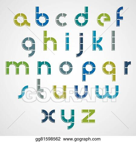 Vector Illustration Colorful Dotted Line Bold Font With Rounded