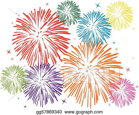 Fireworks colorful. Eps vector stock clipart