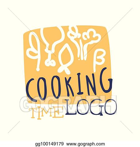 Colorful Handmade Logo Template For Cooking Food Club