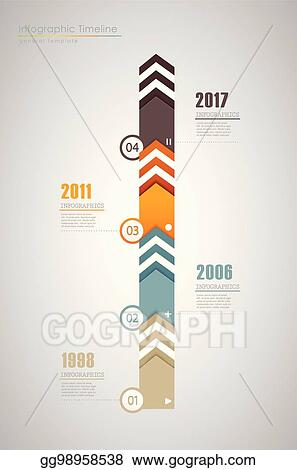 vector illustration colorful infographic typographic timeline