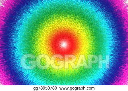 Stock Illustration Colorful Rainbow Abstract Background
