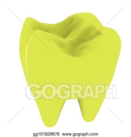 Tooth colorful. Stock illustration d clipart