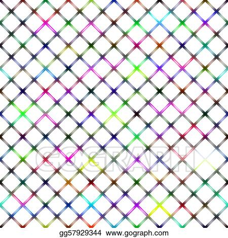 Stock Illustration - Colorful transparent wire netting. Clip Art ...