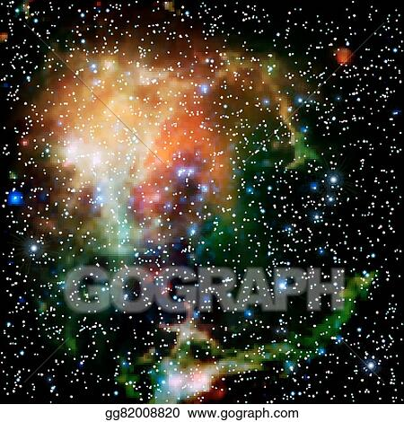 Galaxy colorful. Vector stock universe filled