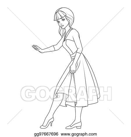 Vector Art - Coloring book: cinderella fairy tale character