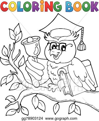 Coloring Book Owl Teacher Theme 1