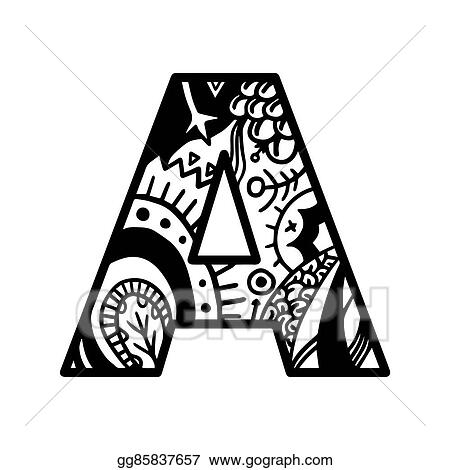 Coloring Book Page Hand Drawn For Shirt Design Tattoo Decoration Doodle Zentangle Monochrome Style Anti Stress Adult And Children