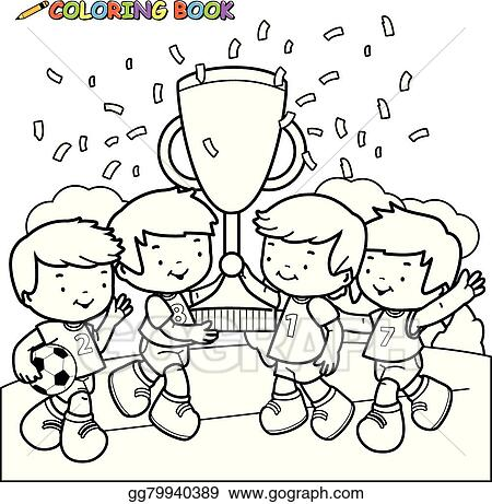 Coloring Book Soccer Kids Champions