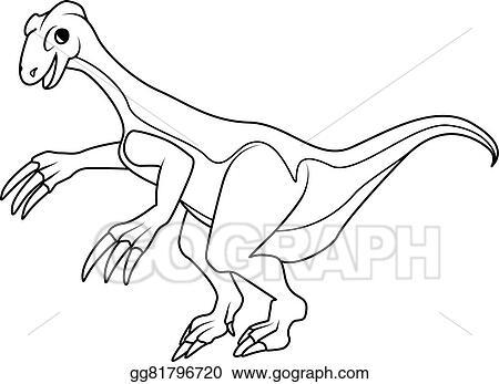 Vector Illustration Coloring Book Therizinosaurus Dinosaur Stock