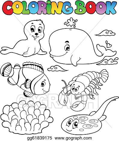 Coloring Book Various Sea Animals 3