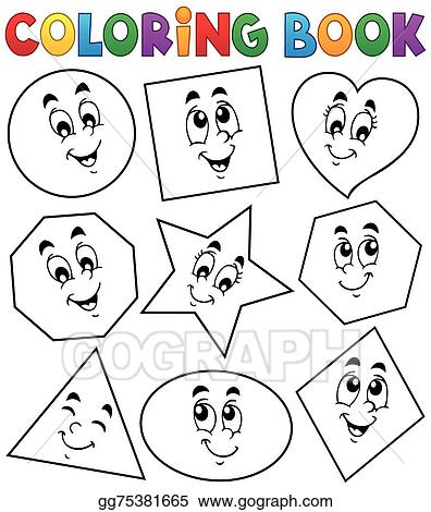 EPS Vector - Coloring book various shapes 1. Stock Clipart ...