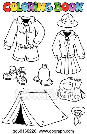 Coloring Book With Scout Clothes
