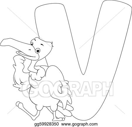 Vector Clipart - Coloring page vulture. Vector Illustration ...