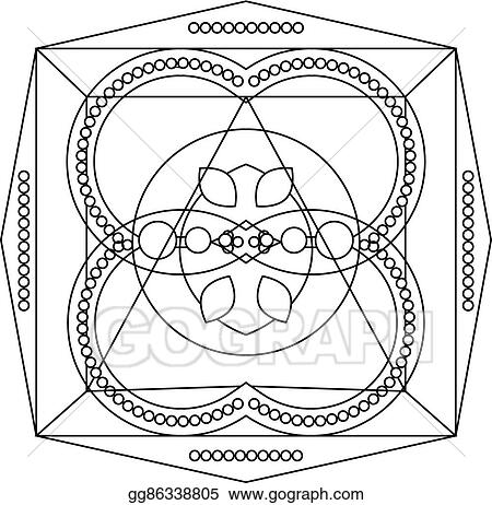 Vector Illustration - Coloring page with mandala for kids ...