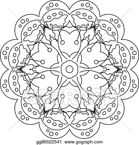 Vector Illustration Coloring Page With Mandala For Kids And Adults Art Therapy Meditation Coloring Book Stock Clip Art Gg86522541 Gograph