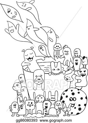 clip art vector coloring pages for adults coloring book black and