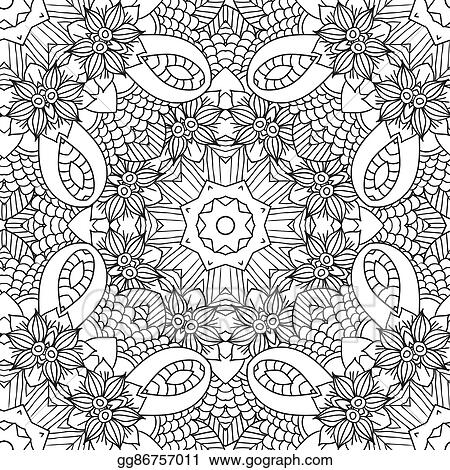 Vector Illustration - Coloring pages for adults. decorative hand ...