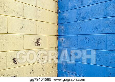 Drawings Coloured Brick Wall Background Stock Illustration