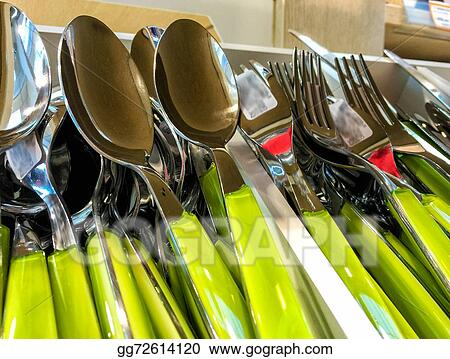 Colourful cutlery & Drawings - Colourful cutlery. Stock Illustration gg72614120 - GoGraph