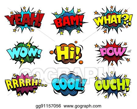 Vector Illustration - Comic book speech bubbles, cool blast and