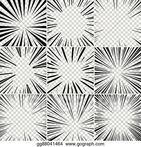 Comic Book Superhero Pop Art Style Black And White Radial Lines Background Manga Or Anime Speed Frame