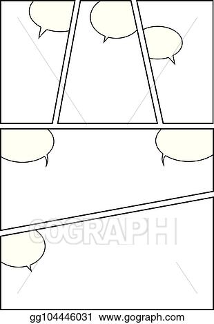 Eps Illustration Comic Storyboard Layout 11 Vector Clipart