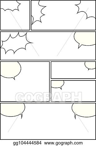 Vector Illustration Comic Storyboard Layout 29 Stock Clip Art