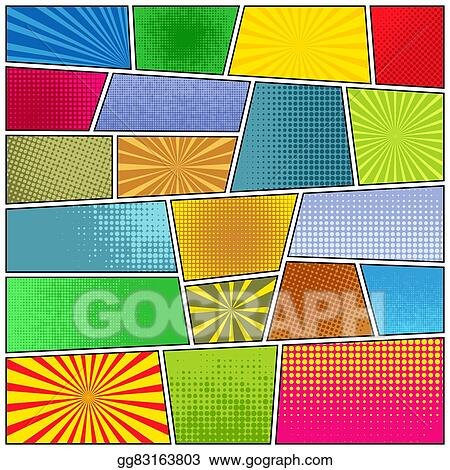 vector illustration comic strip background stock clip art gg83163803 gograph https www gograph com clipart license summary gg83163803
