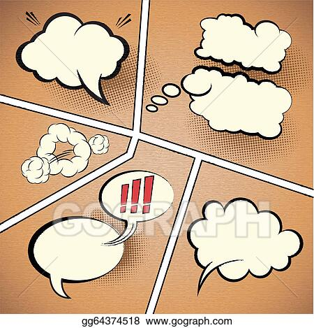 Vector Stock Comic Strip Speech Bubbles Clipart Illustration