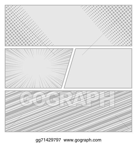 vector art comics pop art style blank layout template with dots