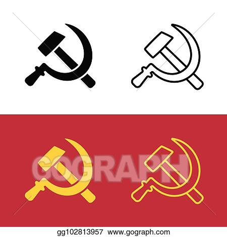 Eps Vector Communist Hammer And Sickle Symbol Stock Clipart