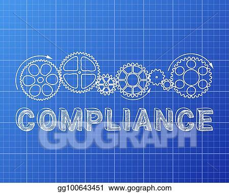 Vector stock compliance blueprint clipart illustration vector stock compliance word with gear wheels on blueprint background illustration clipart illustration gg100643451 malvernweather Gallery