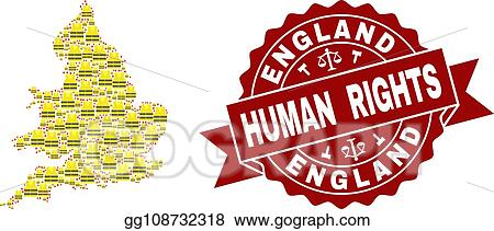 Map Of England Template.Vector Stock Composition Of Gilet Jaunes Protest Map Of England