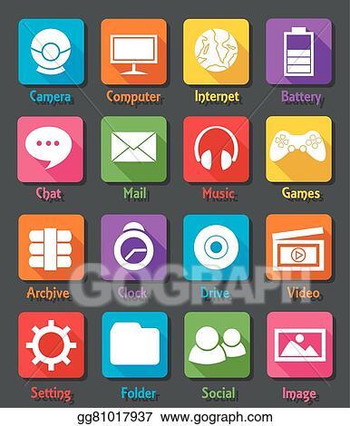 Computer Desktop Flat Design Icon S